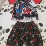 Kids Pajamas Set Summer Children Short Sleeve Sleepwear Spiderman Cars Mickey Boys Cartoon Pyjamas Girl Clothing Nightwears Set photo review