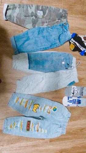 EACHIN Boys Pants Fashion Jeans Patchwork Trend Sport Casual Pants Spring Autumn Teeage Children's Sweatpants Baby Kids Trousers photo review
