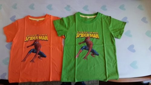 New Kids Tees Boys Girls Spider Short Sleeve T-Shirt Tee Tops for Children Boy Costume Clothes Tshirt photo review