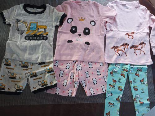 Boys Summer Pajamas Sets Children Excavator Printing Pajamas Rooter Pyjamas Kids Pijamas Infantil Roupas Infantis for 2-8Yrs photo review