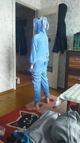 Girls Unicorn Kigurumi Stitch Pajamas For Kids Winter Flannel Onesie Pajamas Children Dinosaur Sleepwear Boys Panda Jumpsuit photo review