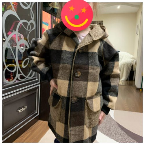 2-9Years Old Children Clothes Wool Coat For Boys Autumn Winter Plus Velvet Thicken Hooded Jacket Boy Windbreaker Kids Overcoat photo review
