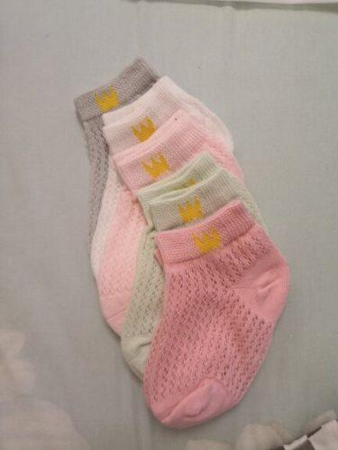 5 Pairs Socks for Kids Boy Girl Mesh Cotton Socks Seamless School Sox Baby Short Socks for Teen 1-12 Years Old No Pilling Socked photo review