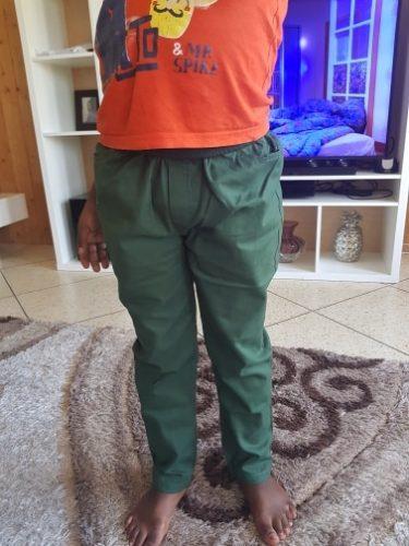 2019 New Fashion Letter Kids Boys Pants Trousers Casual Cotton Elastic Waist Pencil Pants For Boys Children Clothing 4-16T Ds175 photo review