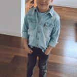 Fashion Children Boy's Shirts Casual Long Sleeve Denim Shirt Big Kids Clothing for Boys Tops 3-15Y BC191 photo review