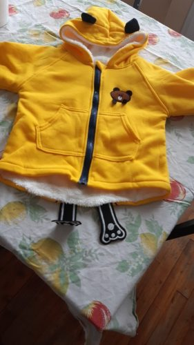 Baby Loose Coat Jacket Lovely Coat Zipper Children 2020 New Autumn Winter Outwear Baby Toddler Clothing 1-5 Year photo review