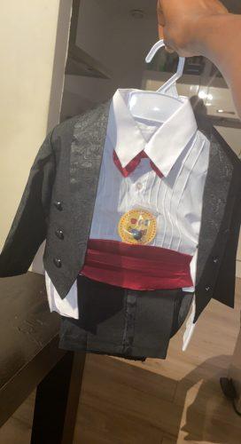Kids/Children Black/White Formal Boys Wedding/Tuxedo Suits boy Blazer Suit Mariages/Perform Dress Costume Baby Boy Baptism Gown photo review