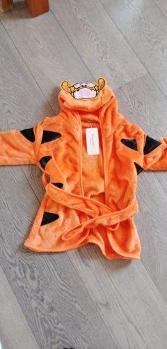 Kids Robes Hooded Pajamas Flannel Boys Clothes Girls Bathrobes Warm Animal Nightgowns Cartoon Sleepwear Minnie Children Clothing photo review