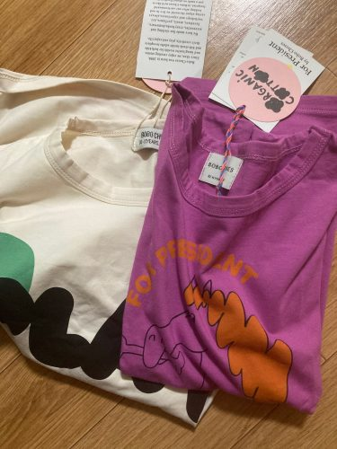 Kids Girls Boys T-shirts Bobo 2021ss Spring Summer Round Neck Cute Cartoon Tops Short-sleeved T Shirts Children's Clothing 1-11Y photo review