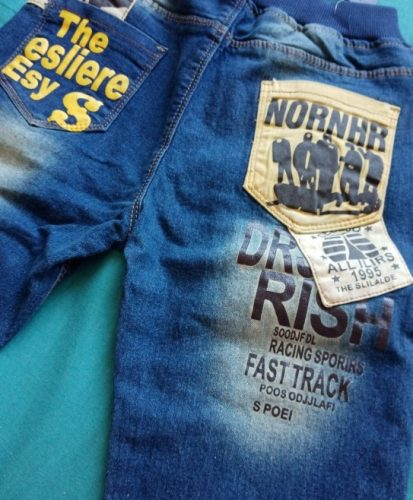 IENENS 5-13Y Boys Slim Straight Jeans Children Denim Long Pants Spring Autumn Wear Kids Casual Trousers photo review