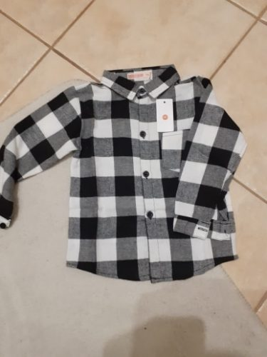 Spring Autumn 2019 New Boys Long Sleeve Classic Plaid Lapel Shirts Tops with Pocket Baby Boys Casual Shirt Kids Clothing photo review