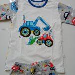 TUONXYE Children Excavator Pajamas For Boys 2021 Autumn Cotton Pyjamas Set Kids Pijama Short Sleeve Home Wear Sleepwear Suits photo review