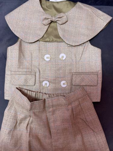 Boy Suits Cotton Baby Boys Suits 2021 Double Breasted vest short Shawl 3pcs Suit sets tuxedo Boy Formal Wedding birthday dress photo review