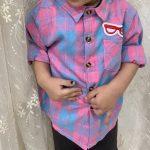 Baby Boys Cartoon Mickey Long Sleeves shirt Clothes Infant Kids Fashion Cotton Plaid Shirt Tops Children Boys Tee Clothing 0-4 photo review