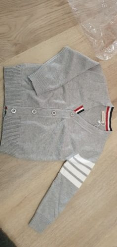 Autumn Baby Boys Sweater Toddler Boys V-Neck Jumper Knitwear Long-Sleeve Cotton Cardigans Children Clothes Kids Sweater Coat photo review