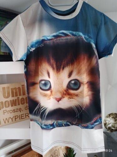 Summer clothes boy girl T-shirt 3d animal cat print T-shirt boy girl personality children short-sleeved shirt T-shirt clothing photo review