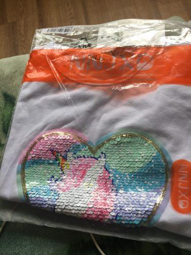 Baby Girl Unicorn t-shirt Tops Baby Girl T-shirt Big Girls Tee Shirts Children Girl 3-8 Years Summer Short Sleeves Cotton Tees photo review