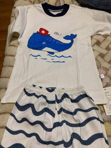 Kids Pajamas Sets Baby Boys Girls Cotton Long Sleeved Tshirt Pant Cartoon Girl Clothing Autumn Sleepwear Suit Pyjama Trousers photo review