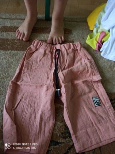 3-13Year Children Boys Pants Summer Kids Knee Length Straight Pants Boys Linen Cotton Pants Baby Casual Trousers photo review