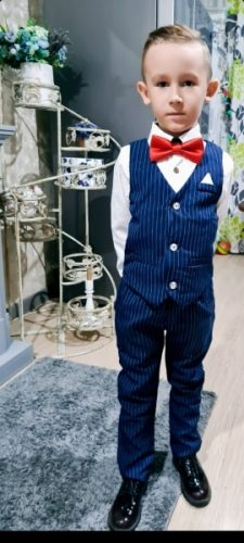 Flower Boys Formal Suits Vest Pants 2pcs School Kids Weeding Birthday Dress Children's Day Chorus Show Piano Performance Costume photo review