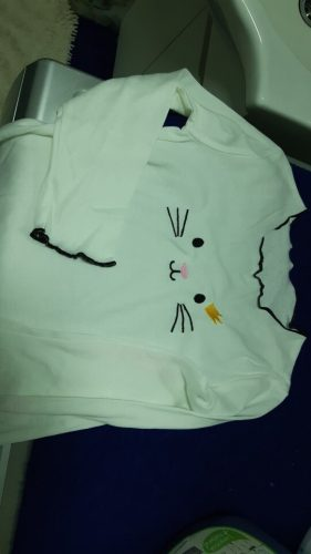 Baby Girl Sweater Cardigan Kids Sweatershirts Children Clothing Winter Autumn Sweater Tshirt Long Cartoon Cat Sweatershirt photo review