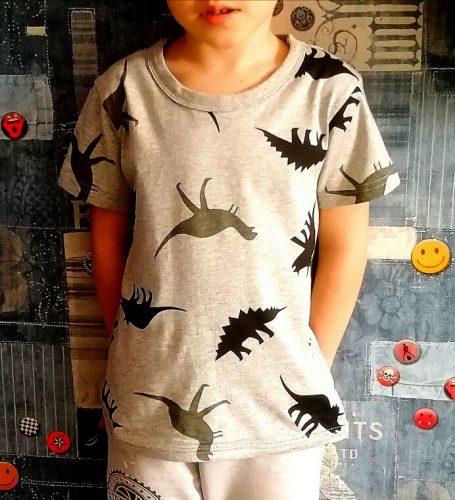 Children T-shirt for Boy 2020 Animal Print Dinosaur Boys T Shirt for Girls Tops Cartoon Kids t shirt Clothes 5-14 Yrs photo review