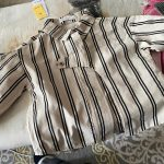 2021 New fashion Korean chic boys girls striped long sleeve thin shirts spring summer children irregular casual tops clothes photo review