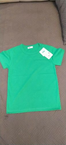 100% Cotton Kids T-shirt Tops Baby Boys Short Sleeve Girls Children Basic Color Clothes Tees Infant Toddler New 2020 Clothing photo review