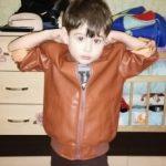 Fashion Boy Outerwear New Spring Autumn Boy PU Jacket Children Warm Simier coat For Boy Coat photo review