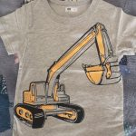 Kids Clothes Summer Boys Short Sleeve T-shirts Tops Children Cotton Excavator Pattern T Shirt Tees 2-8 Years Boy Girl Top photo review