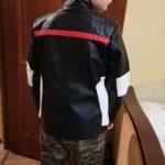 Boys Jacket Coat Kids Leather Jacket Children Spring Autumn Waterproof Windproof Coat Hit Color Stitching Locomotive Jacket photo review