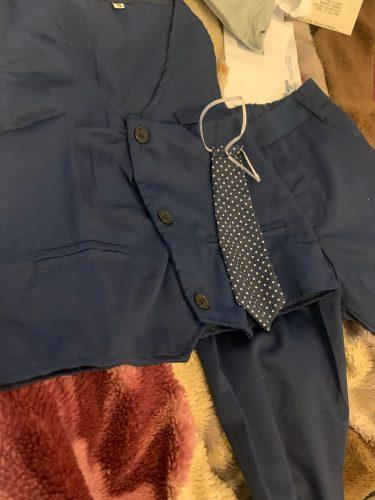 3pcs Set Autumn Children's Leisure Clothing Sets Baby Boy Clothes Vest Gentleman Suit for Weddings Formal Clothing Suits photo review