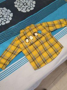 2020 Spring Plaid Boy Shirt Kid Clothes New Year Costume Cartoon Mickey Full Sleeve Boy Clothes Baby Boy Shirt photo review