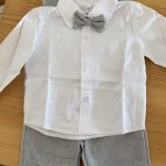 Baby Formal Suit Infant Blazer Toddler Gentleman Tuxedo Outfit Wedding Birthday Gift Winter Long Sleeve Clothes Set 4PCS photo review