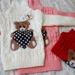 PHILOLOGY 2T-8T bear winter boy girl kid thick Knitted bottoming turtleneck shirts baby high collar pullover toddler sweater photo review