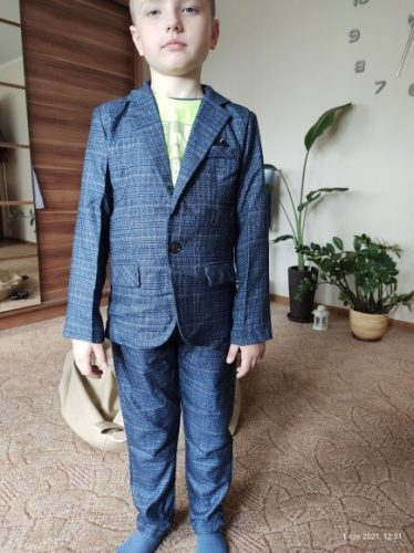 Formal Boys Suits for Weddings Blazers Pants Children Party Clothes Plaid Kids School Costume Gentlemen Teenager Tuxedos Sets photo review