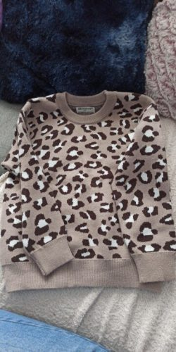 Kids Baby Boys Sweaters Leopard Knitted Pullover Casual Long Sleeve Children's Tops Toddler Boy Clothes Baby Girl Clothes AA4259 photo review
