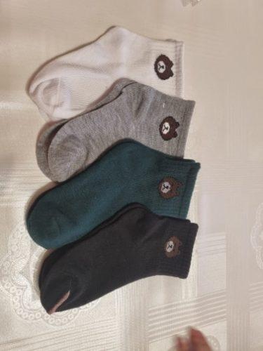 5 Pairs Baby Boys Winter Socks Cartoon Bear Kids Spring Autumn Cotton Breathable Keep Warm Floor Anti-skid Girls Socks photo review