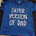 Summer Kids Tshirt Cuter Version of Dad Letters Printed Toddler Boy Girl Funny T-shirt Children Short Sleeve Casual Tees Tops photo review