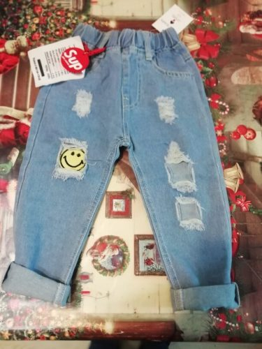 Children Broken Hole Jeans New Boys Girls Jeans Fashion 2-6Years Baby Children Jeans Autumn High Quality Kids Trous ( C12063 photo review