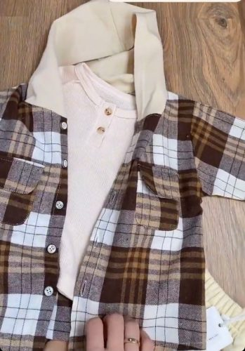 Children's Clothing Boys Shirts 2020 Autumn Kids Hooded Jacket Plaid Long-sleeved Shirt Spring Baby Boy Long Sleeve Tops photo review