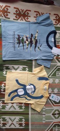 Summer Children Clothing Boys T Shirt Cotton Dinosaur Short Sleeve T-shirt Kid Boy Casual Cute T-shirt 1-8Years Shirt photo review
