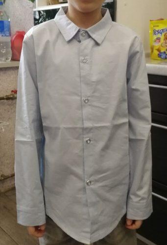 Boy Shirts for Children Spring Autumn 2019 Boys White Shirt Long Sleeve Teenage Boys School Uniform Kids Bow Clothes 4 8 12 15Y photo review