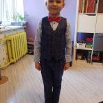 Flower Boys Formal Blazer Suit Kids Jacket Vest Pants Tie 4Pcs Wedding Tuxedo Set Children Prom Costume Performance Dress photo review