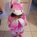 Winter Flannel Soft Warm Unicorn Kigurumi Pajamas Hooded Animal Cartoon Boys Pyjamas Unicorn Pajamas for Girls Kids Sleepwear photo review