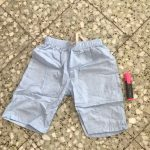 2-10 Yrs Kids Boys Trousers Knee Lenth Shorts Candy Color Girls Children Summer Beach Loose Shorts Pants Cotton&Linen photo review