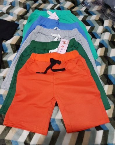 Children Summer Shorts Cotton Solid Elastic Waist Shorts For Boys Girls Fashion Sports Pants Toddler Panties Kids Beach Clothing photo review