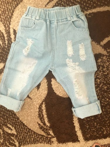 CROAL CHERIE Fashion Children Ripped Jeans Kids Boys Jeans Girls Jeans Denim Pants For Teenagers Boys Toddler Jeans Kids Clothes photo review