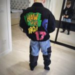 Baby Boy Jacket 2020 Spring Autumn Fashion Black Denim Jacket Kids Jacket Casual Kids Clothing Boy Clothes Letter 2T To 10T YRS photo review