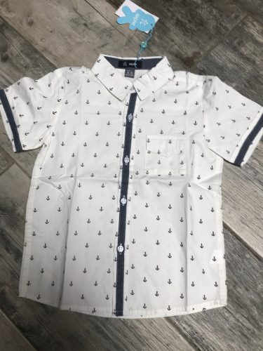 New Summer Children shirts Printing Anchor pattern Cotton 100% Short-sleeved Boy's shirts Fit for 3-14 Years kids shirts photo review